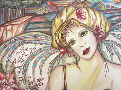 Fairy Poem Wall Art - Painting - Gypsy Angel by Sherry Sharp