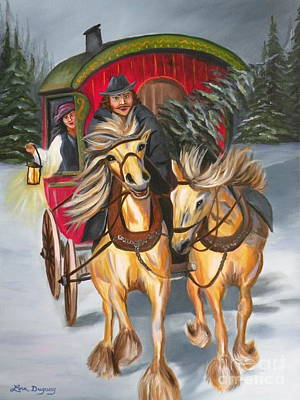 Painting - Gypsy Christmas by Lora Duguay