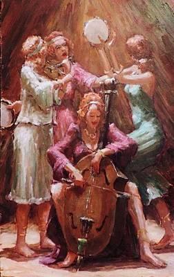 Gypsy Band Painting - Gypsy Dreams by Adriaan Jr Boshoff