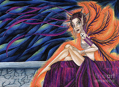 Gypsy Eyes Art Print by Coriander  Shea