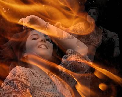 Photograph - Gypsy Fire Dance by I'ina Van Lawick
