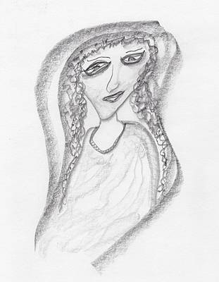 Drawing - Gypsy Gal by Jim Taylor