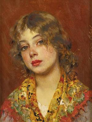 Eugen Von Blaas Painting - Gypsy Girl by Celestial Images