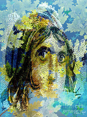Gypsy Girl Mosaic Art Print