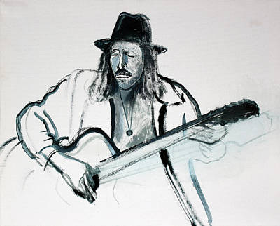 Painting - Gypsy Guitarist by Asha Carolyn Young