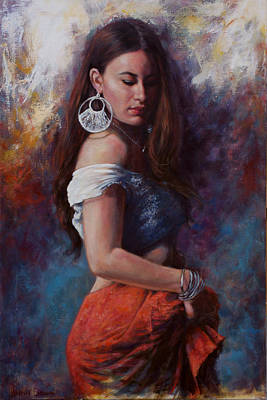Painting - Gypsy by Harvie Brown