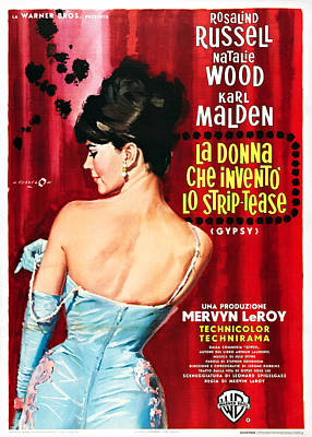 Foreign Ad Art Photograph - Gypsy, Italian Poster, Natalie Wood by Everett