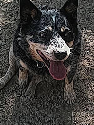 Cattle Dog Digital Art - Gypsy by Jen  Brooks Art