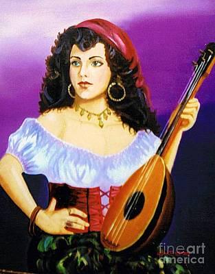 Painting - Gypsy  Princess by Lora Duguay