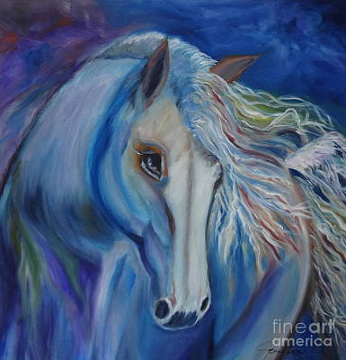 Art Print featuring the painting Gypsy Shadow by Jenny Lee