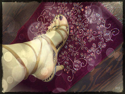 Wine Art Paining Photograph - Gypsy Shoes by Absinthe Art By Michelle LeAnn Scott