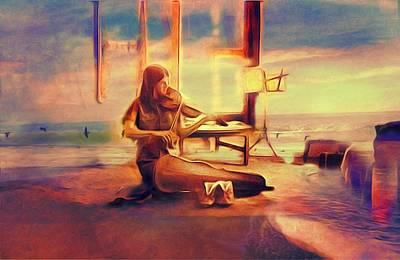 Meditative Digital Art - Gypsy by Suzy Norris