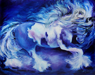 Gypsy Vanner In Blue Art Print