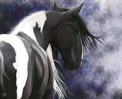 Digital Art - Gypsy Vanner by Kate Black
