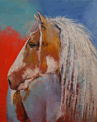 Gypsy Vanner Art Print by Michael Creese