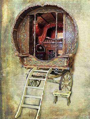 Gypsy Wagon Photograph - Gypsy Wagon by Mim White