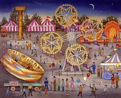 Girls Bedroom Painting - Gyro At The Carnival by Linda Mears