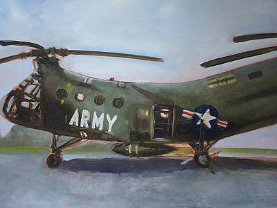 Painting - H 21a Helicopter by Luz Perez