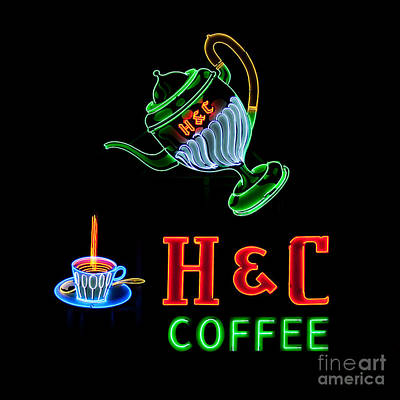 Photograph - H  C Coffee Sign Roanoke Virginia by T Lowry Wilson