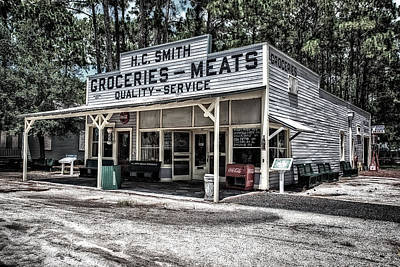 H C Smith's Groceries Heritage Village Art Print