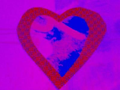 Mixed Media - H-heart by Dorothy Rafferty