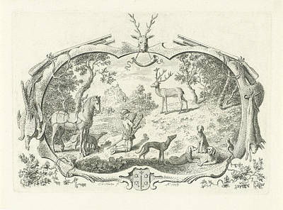 H Hubertus, Cornelis Van Noorde Art Print