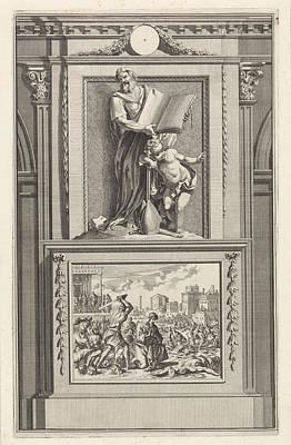 H. Irenaeus Of Lyon, Church Father, Jan Luyken Art Print