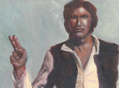 Painting - H Is For Han Solo by Jessmyne Stephenson