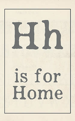 Painting - H Is For Home by Katie Doucette