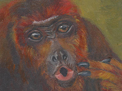 Painting - H Is For Howler Monkey by Jessmyne Stephenson