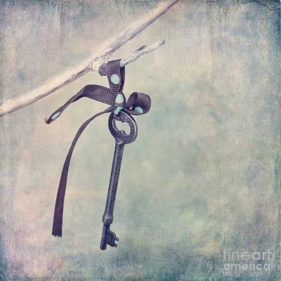 Key With A Ribbon Art Print