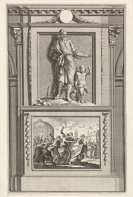 Athens Drawing - H. Quadratus Of Athens, Apologist, Jan Luyken by Jan Luyken And Zacharias Chatelain Ii And Jan Goeree