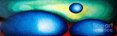 Molecule Drawing - H20 by Juan Jimenez