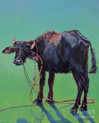 H2o Buffalo Art Print