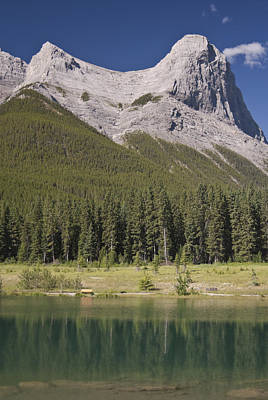 Photograph - Ha-ling Peak Rises Above Quarry Lake by Richard Berry