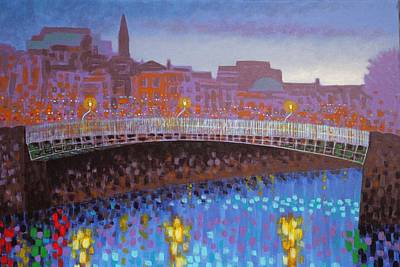 Ha Penny Bridge Dublin  Cropped Art Print