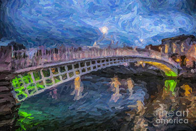 Photograph - Ha Penny Bridge Dublin by Liz Leyden