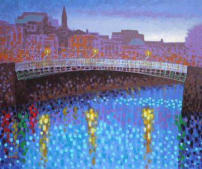 Ha Penny Bridge  Art Print by John  Nolan