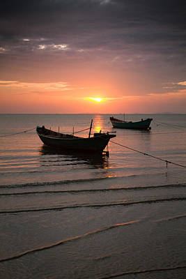 Photograph - Ha Tien Sunset One by Brad Grove