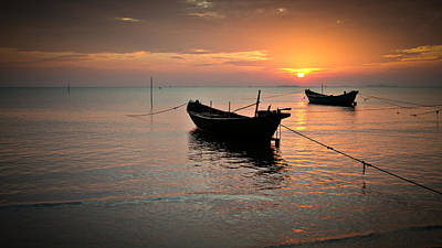 Photograph - Ha Tien Sunset Two by Brad Grove