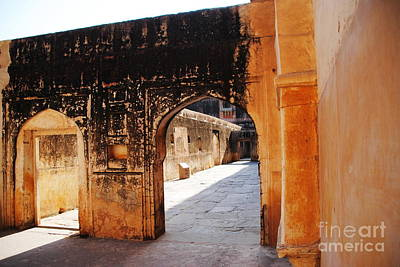 Photograph - Haarem At Amber Fort Jaipur by Jacqueline M Lewis