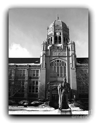 Photograph - Haas College Center- Border Bw by Jacqueline M Lewis