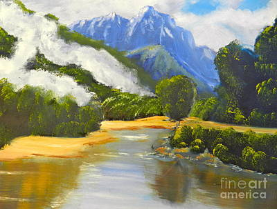 Haast River New Zealand Art Print