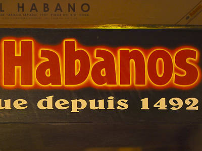 Photograph - Habanos Cigar Sign by Jo Ann Tomaselli