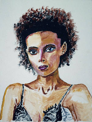 Woman Painting - Habesha by Jeremy Phelps