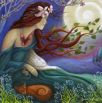 Amanda Clark Painting - Habondia by Amanda Clark