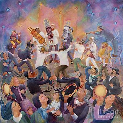 Painting - Hachnasat Sefer Torah by Chana Helen Rosenberg