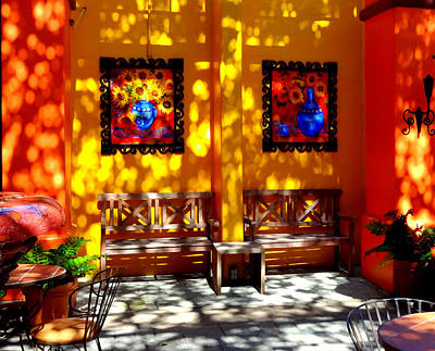 Photograph - Hacienda Benches by Donna Spadola