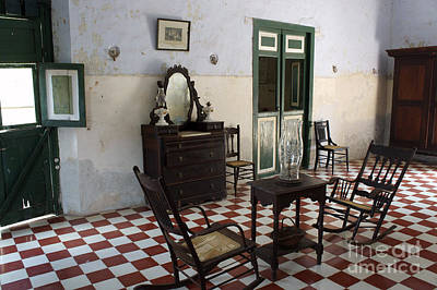 Photograph - Hacienda Room Yaxcopoil Mexico by John  Mitchell