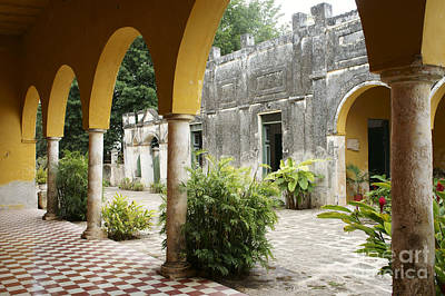 Photograph - Hacienda Yaxcopoil Courtyard by John  Mitchell